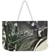 Make The Connection Quote  Weekender Tote Bag
