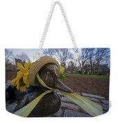 Make Way For Ducklings B.a.a. 5k Spring Bonnet Weekender Tote Bag