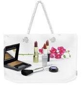 Makeup Brush And Cosmetics Weekender Tote Bag