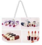 Makeup Set Of Lipsticks Isolated Weekender Tote Bag