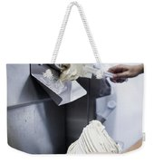 Making Gelato Ice Cream With Modern Machine Weekender Tote Bag