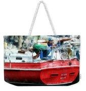 Making The Boat Shipshape Weekender Tote Bag
