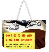 Malaria Mosquito Weekender Tote Bag by War Is Hell Store