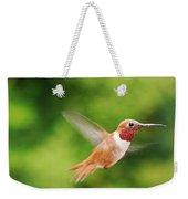 Male Allen's Hummingbird Weekender Tote Bag