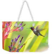 Male Anna's Hummingbird Weekender Tote Bag