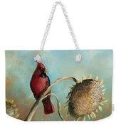 Male Cardinal Weekender Tote Bag