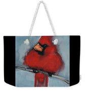Male Northern Cardinal Weekender Tote Bag by Jani Freimann