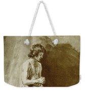 Male Nude Weekender Tote Bag