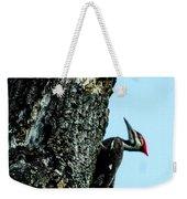Male Pileated Woodpecker Weekender Tote Bag