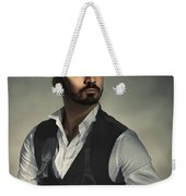 Male Portrait Weekender Tote Bag