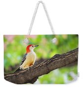 Male Red-bellied Woodpecker Weekender Tote Bag