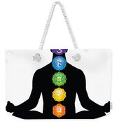 Male Silhouette Chakra Illustration Weekender Tote Bag