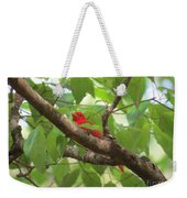 Male Summer Tanager Weekender Tote Bag