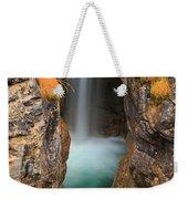 Maligne Canyon Vertical Panorama Weekender Tote Bag