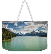 Maligne Lake In Jasper National Park Weekender Tote Bag