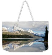 Malingne Lake Reflection, Jasper National Park  Weekender Tote Bag