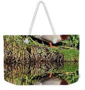 Mallard And Reflection Weekender Tote Bag