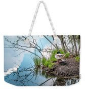 Mallard At Silver Lake Weekender Tote Bag