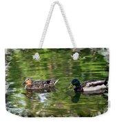 Mallard Couple On A Pond Weekender Tote Bag