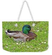 Mallard Drake In The Grass Weekender Tote Bag