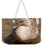 Mallard Hen Weekender Tote Bag