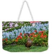 Mallard In The Garden Weekender Tote Bag