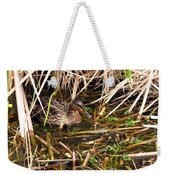 Mallard Mama With Duckling Weekender Tote Bag
