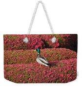 Mallard On A Floral Carpet Weekender Tote Bag