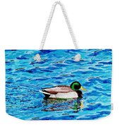 Mallard On Water Weekender Tote Bag