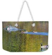 Mallard Splash Landing Weekender Tote Bag