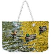Mallards On Golden Pond 3 Weekender Tote Bag