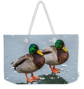 Mallards On Ice Weekender Tote Bag