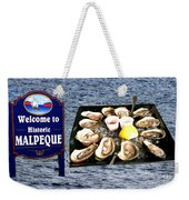 Malpeque Oyster Poster Weekender Tote Bag