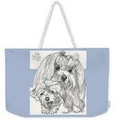 Maltese And Pup Weekender Tote Bag