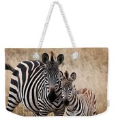 Mama And Baby Zebra Weekender Tote Bag