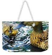 Mama And Chick Weekender Tote Bag