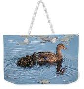 Mama Mallard And Her Ducklings Weekender Tote Bag