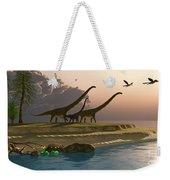Mamenchisaurus Dinosaur Morning Weekender Tote Bag