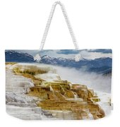 Mammoth Hot Springs In Yellowstone National Park, Wyoming. Weekender Tote Bag