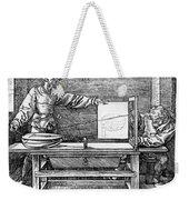 Man Drawing A Lute 1523 Weekender Tote Bag