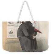 Man For A Showcase With Prints, Anonymous, 1810 - C. 1900 Weekender Tote Bag