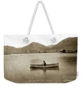 Man In A Row Boat Named Lizzie On Palmer Lake On The Colorado Di Weekender Tote Bag
