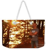 Man In The Forest Weekender Tote Bag