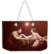 Man Kissing Womans Hand Romantic Couple Weekender Tote Bag