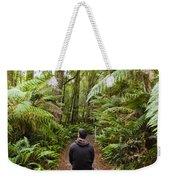 Man Relaxing In Strahan Rainforest Retreat Weekender Tote Bag