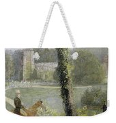 Man Riding To His Lady Weekender Tote Bag