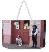 Man With His Dog Re-enactor Birdcage Theater Tombstone Arizona 2004 Weekender Tote Bag