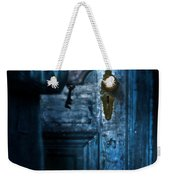 Man With Keys At Door Weekender Tote Bag