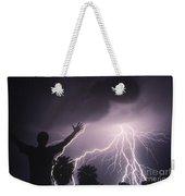 Man With Lightning, Arizona Weekender Tote Bag