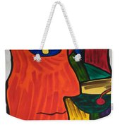Man With Martini Glass Weekender Tote Bag